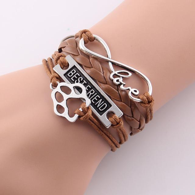 Dog Bracelet love, paws, charm, best friend, wrap ...
