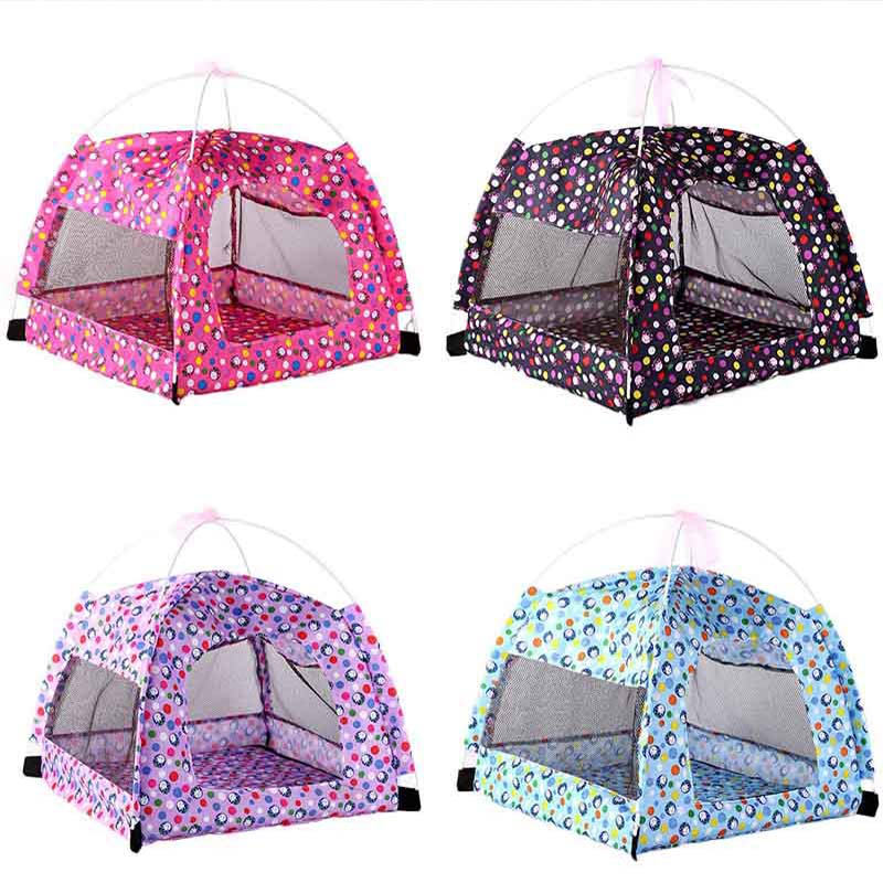 Fold Able Pet Tent Outdoor Indoor Dog Cat Mesh With